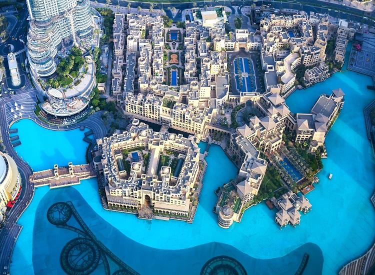 Dubai View from Burj